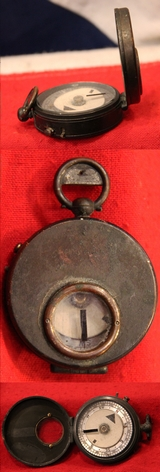Frank Barker & Son Victorian Officer's 'Night Marching' Compass