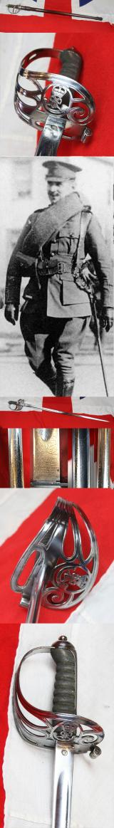 A Good British,Edward VIIth, Ox and Bucks Light Infantry Rifles Officer's Sword in FS Scabbard,